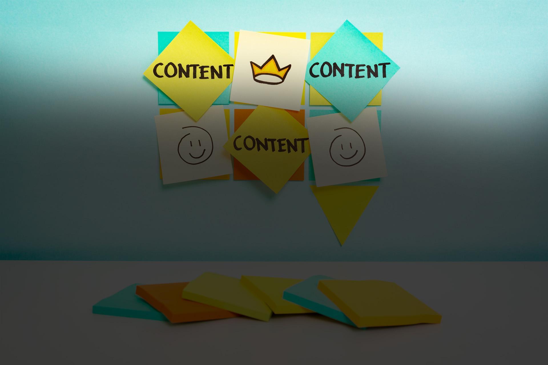 stickers escrito marketing de contenidos